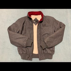 Members Only Wool Bomber Jacket (36/XS) Grey/Gray
